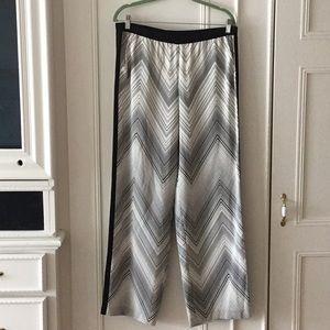 Trina Turk Sz 10 Silk palazzo pants, new no tags
